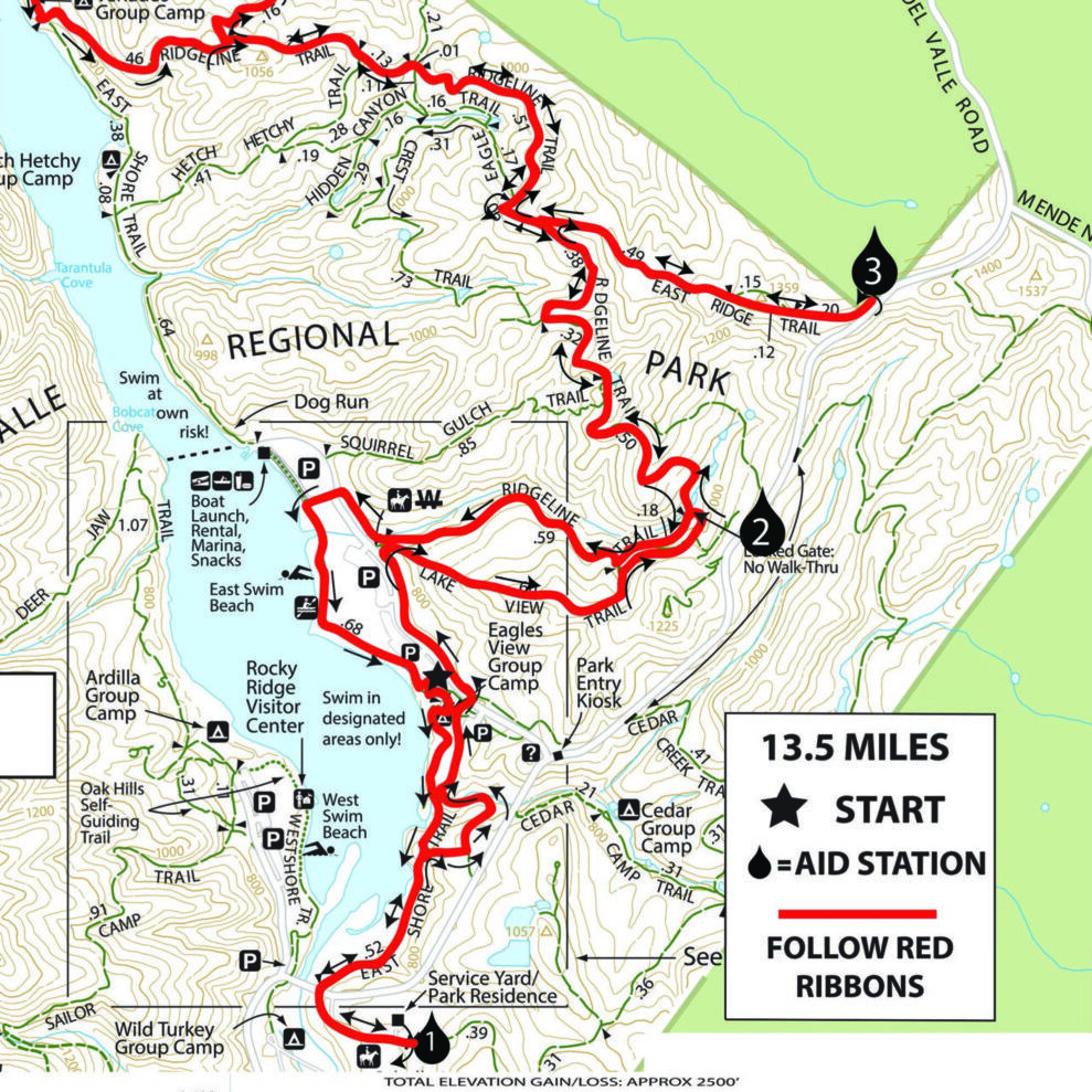 Badger Cove Half Marathon Course Map and Elevation Chart-1